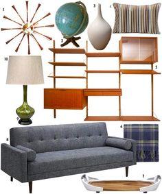 A little mid-century modern living room set. Love it!