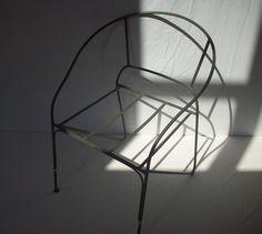 Vintage Garden Chair Frame / Outdoor Chair Frame par urgestudio