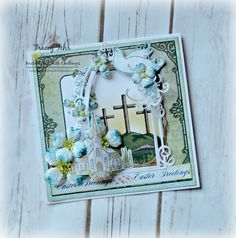 Easter Greetings created with the Flowering Dogwood Collection by Heartfelt Creations...