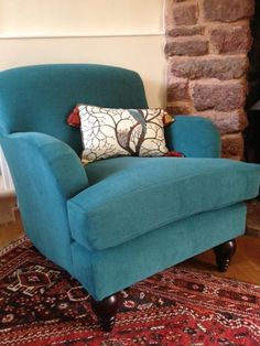 Re-upholstered chair using Villa Nova's new fabric - Atlantis - it has a new technology that allows even the toughest of stains to be removed with water. It works we tried it with felt tip pen !