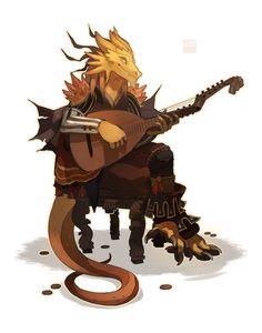 dragonborn bard by Lingrimm  https://lingrimm.deviantart.com/