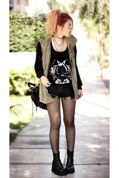 Story of Lola jacket - melacine moon shorts - famesexpower t-shirt