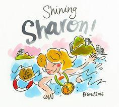 Shining Sharon! Olympische Spelen Rio 2016  by Blond-Amsterdam