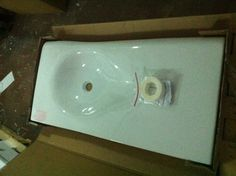 NIC Design Pillow washbasins, 102cm w X 50cm d. Available in various colours