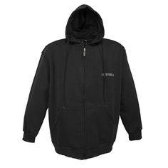 Marken Sweatjacke in schwarz in 4XL - Übergrössen Herrenmode