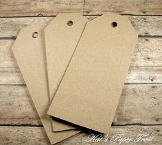 25 Large Kraft Tags Paper Tags Paper Luggage by KatsPaperTrail