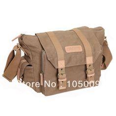 F1 Shoulder Canvas Waterproof Camera Bag Case for casual retro Canon nikon pentax sony #Affiliate