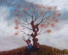 Painting by Robert Dowling Jr