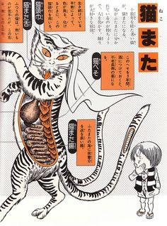 """Nekomata from Shigeru Mizuki's """"Yōkai Daizukai"""", 2004"""