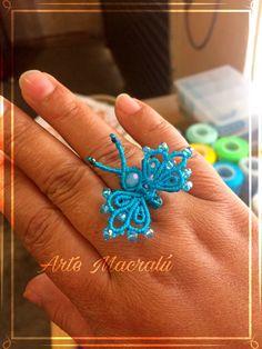Macrame Rings, Macrame Knots, Micro Macrame, Macrame Jewelry, Macrame Bracelets, Macrame Design, Macrame Art, Macrame Projects, Tatting Patterns