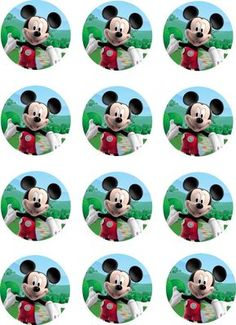 Mickey Mouse Clubhouse Edible Image Cupcake by ShoreCakeSupply