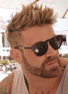 Spikey Textured Short Haircuts 2018-2019 Blonder Bart, Undercut Men, Undercut With Beard, Facial Hair, Mens Hairstyles Blonde, Men's Hairstyles, Hairstyle Short, Latest Hairstyles, Mens Short Messy Hair
