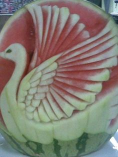 Swan-fruit Carving creative background for your mobile phone ...