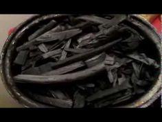 Biochar production in a woodstove