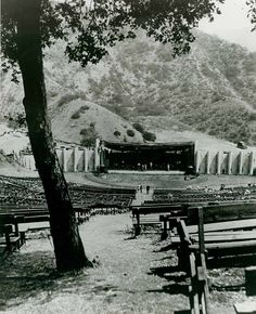 Hollywood Bowl 1922.  My grandfather, Charles L. Bajus was second trombonist with the Los Angeles Philharmonic Orchestra and played here.