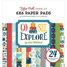 """Echo Park Double-Sided Paper Pad 6""""X6"""" 24/Pkg-Go, See, Explo - go, see, explore, Go/See/Explore go/ see/ explore"""