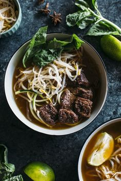 A few of our editors are doing Whole30 this month, and I'm helping them out a bit by finding some of the best Whole30-compliant recipes on the internet. This spin on beef pho — with an aromatic broth, slices of beef, and spiralized zucchini — definitely fits the bill.