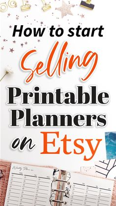 How to start as an Etsy Seller Planner Layout, Printable Planner, Finance, Etsy Seller, Learning, Studying, Teaching, Economics, Onderwijs