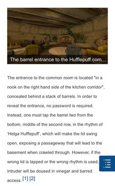 Entrance to the Hufflepuff common room