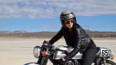 Good day! Ray-Ban ''Never Hide'' - Bike girl Rosie O'Laskey - Director & DP Joe Hill #hondacaferacer #caferacergirl | caferacerpasion.com