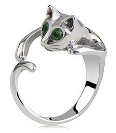 Leyu Fashion Silve überzogen Personalized Green Eye Cat Einstellbare Offene Finger-Ring-Schmucksachen für Frauen - http://schmuckhaus.online/leyu/1-leyu-fashion-einfach-design-nette-ffnen-torque
