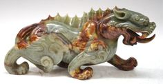 Chinese Large Celadon Jade Carved Dragon http://www.liveauctioneers.com/item/19180058