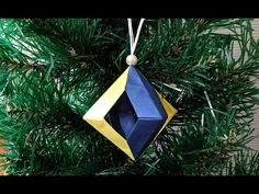 3d Origami, Artsy Fartsy, Diy And Crafts, Christmas Ornaments, Holiday Decor, Youtube, Paper Scraps, Xmas, Stars
