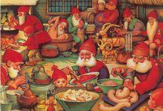 Santa's elves' kitchen.