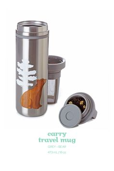 This insulated, bear-printed travel mug keeps your tea nice and toasty for hours.