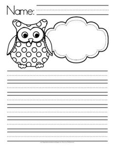 printable owl shape writing apges - Google Search