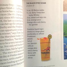 Official Drink of the Preakness: The Black-Eyed Susan « HORSE NATION ...