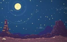 Pixel Desert by Charles Frumerie, via Behance