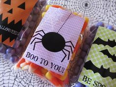Halloween stickers and gift tags.