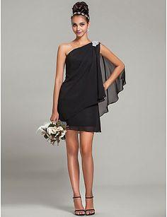 Bonitos vestidos de fiesta de color negro   Moda 2014