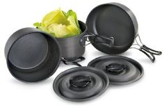 Texsport Black Ice The Scouter Hard Anodized Cook Set --- http://www.amazon.com/Texsport-Black-Scouter-Hard-Anodized/dp/B000P9F1EQ/?tag=affpicntip-20