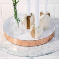 Copper Round Decorative Tray