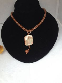 Red Zebra Jasper Pendant with Micro Byzantine Copper Chain on Etsy, $70.00 CAD