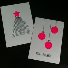 jenn.adores: Schreib mal wieder! Oder wie man Weihnachtskarten schnell selbst basteln kann