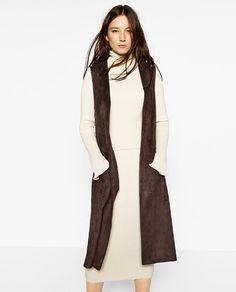 Image 2 of FAUX SUEDE WAISTCOAT from Zara