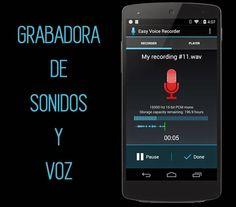 Grabadora de sonidos y voz para móviles con Android : Recursos Gratis En Internet