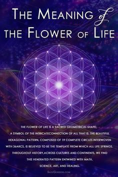 Flower of Life Meditation for Universal Love - Sage Goddess The flower of life g. - Flower of Life Meditation for Universal Love – Sage Goddess The flower of life geometric pattern r - Sacred Geometry Meanings, Sacred Geometry Patterns, Sacred Geometry Tattoo, Symbols And Meanings, Spiritual Symbols, Sacred Symbols, Spiritual Awakening, Flower Of Life Meaning, Reiki