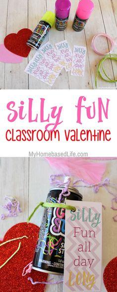 Classroom Valentines | Non-Candy Valentine | Silly String Activity | #valentinesday | #valentineactivity | Kids Valentines | via @myhomebasedlife