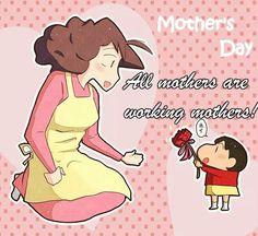 Sinchan Cartoon, Couple Cartoon, Cartoon Shows, Crayon Shin Chan, Happy Mother's Day Funny, Sinchan Wallpaper, Happy Mothers Day Images, Mother Day Wishes, Funny Meme Pictures