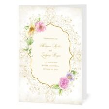 Elegant Enchantment Wedding Programs