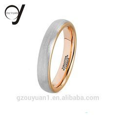 4MM Mens Womens 18K Rose Gold Tungsten Carbide Wedding Band Engagement Ring Size 4-15