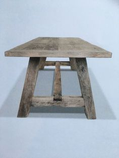 Timber Table, Wood Table, Dining Table, Small Wooden Bench, Diy Coffee Table, Reclaimed Wood Furniture, Conference Table, Old Wood, Farmhouse Table
