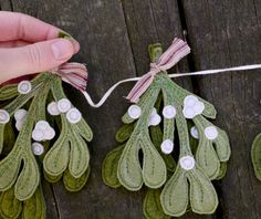 Mistletoe Holiday Garland. Handmade Felt Garland by by alyparrott