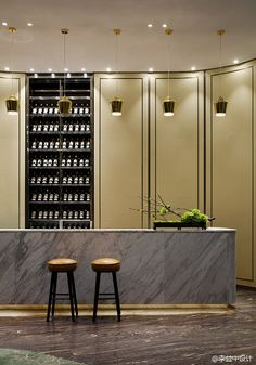 Kitchen | island | tall cupboards | wine rack