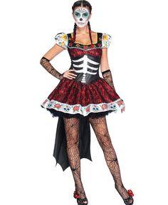 LA85136 Sexy Dia De Los Muertos Darling Fancy Dress Costume