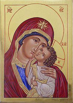 Icons - Blessed Virgin Mary - The Studio of John the Baptist : sacredart.co.nz John The Baptist, Blessed Virgin Mary, Holy Family, Wonder Woman, Superhero, Studio, Fictional Characters, Art, Art Background